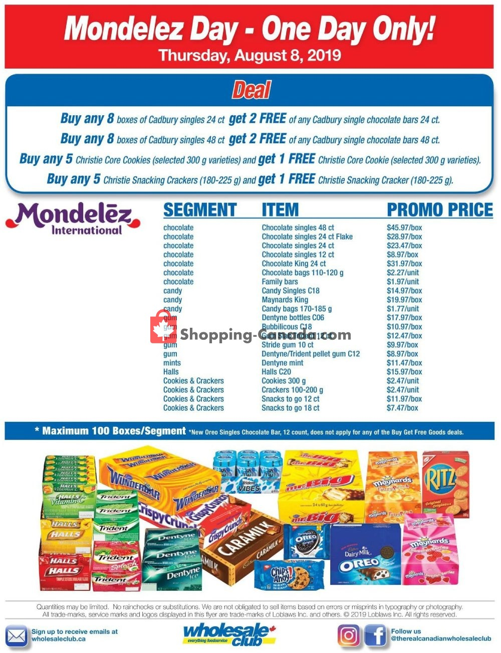 Flyer Wholesale Club Canada - from Thursday August 8, 2019 to Thursday August 8, 2019