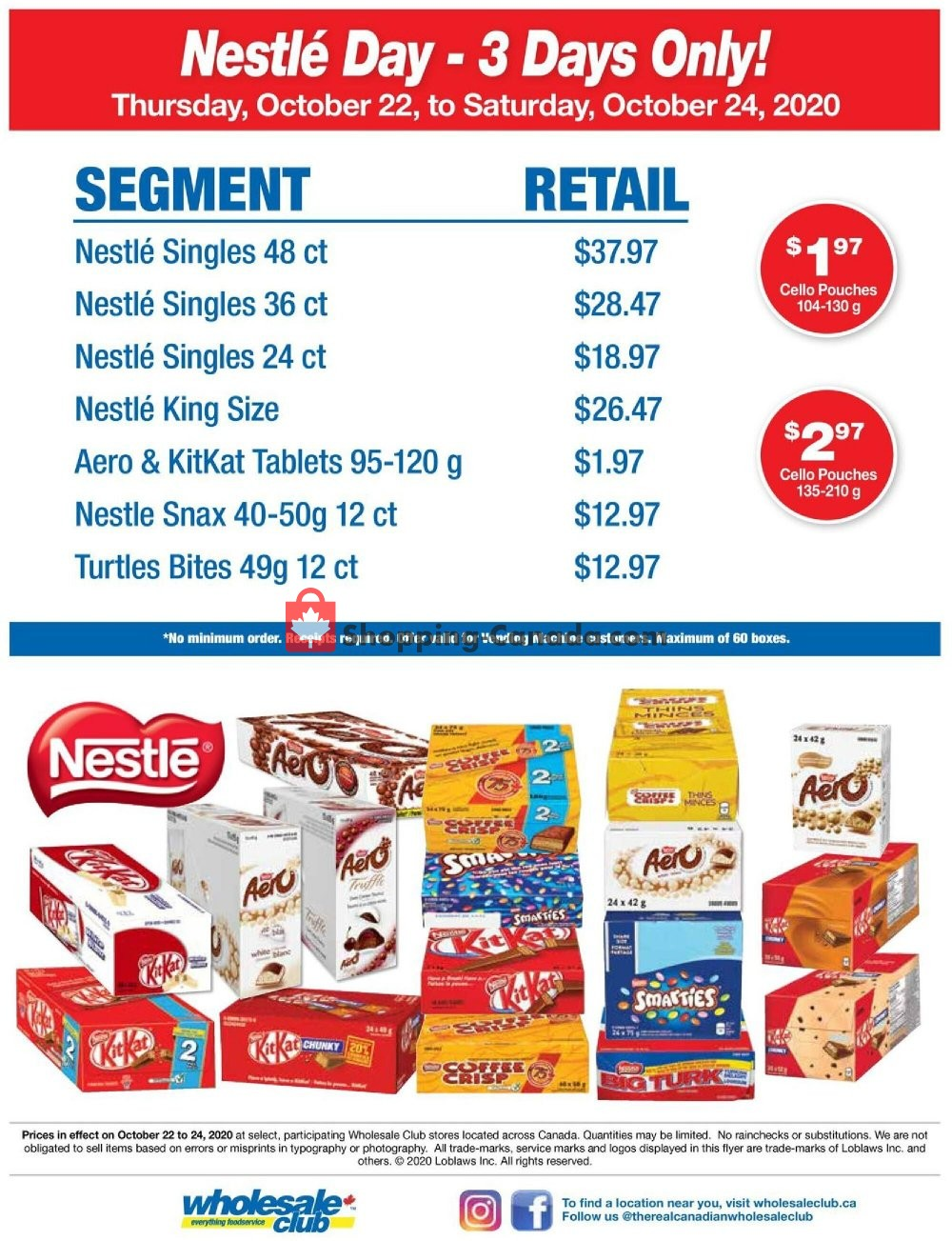 Flyer Wholesale Club Canada - from Thursday October 22, 2020 to Saturday October 24, 2020