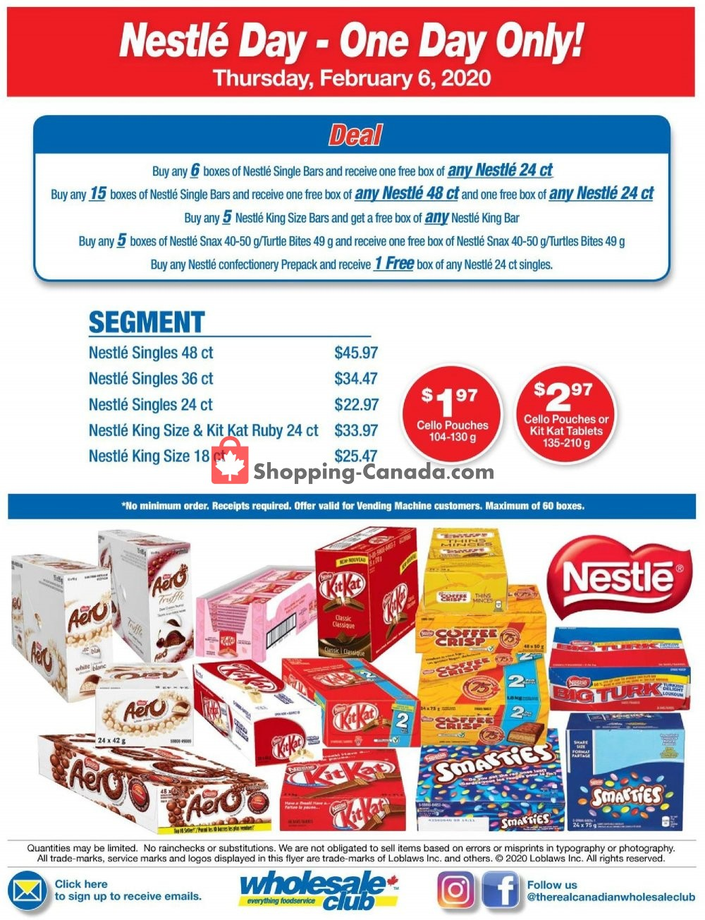 Flyer Wholesale Club Canada - from Thursday February 6, 2020 to Thursday February 6, 2020