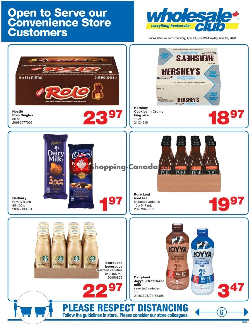 Flyer Wholesale Club Canada - from Thursday April 23, 2020 to Wednesday April 29, 2020