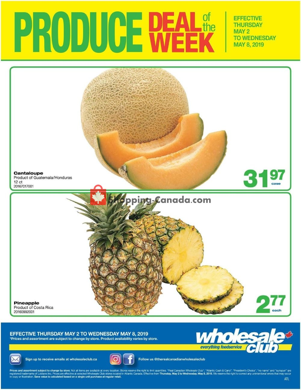 Flyer Wholesale Club Canada - from Thursday May 2, 2019 to Wednesday May 8, 2019