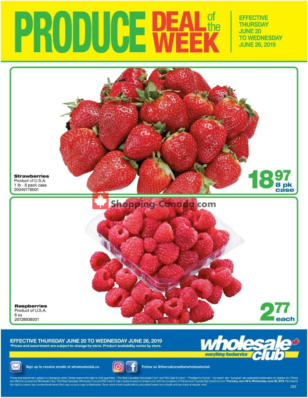 Flyer Wholesale Club Canada - from Thursday June 20, 2019 to Wednesday June 26, 2019