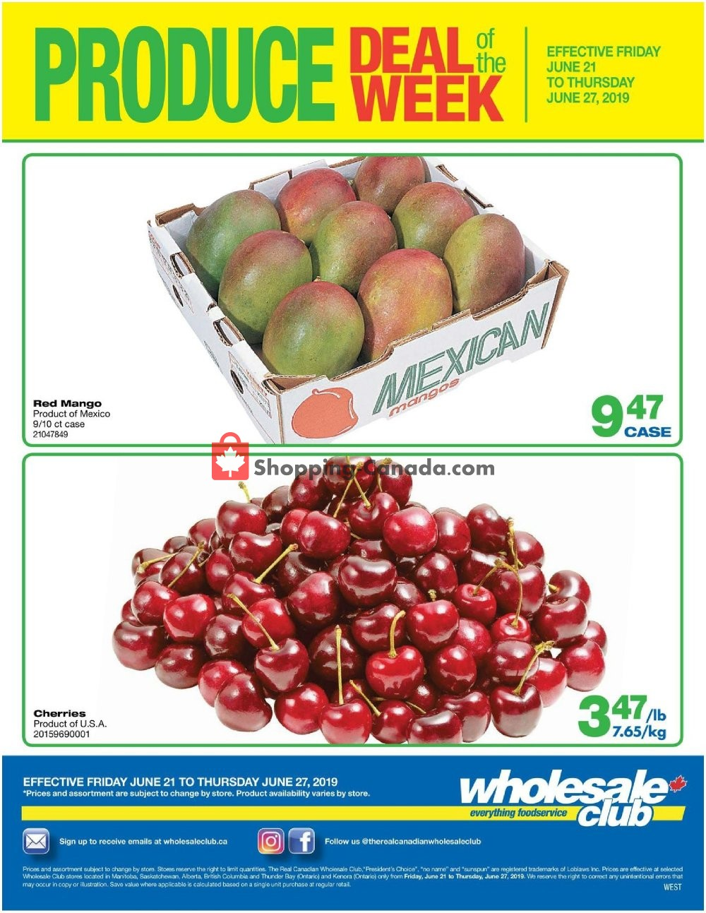 Flyer Wholesale Club Canada - from Friday June 21, 2019 to Thursday June 27, 2019