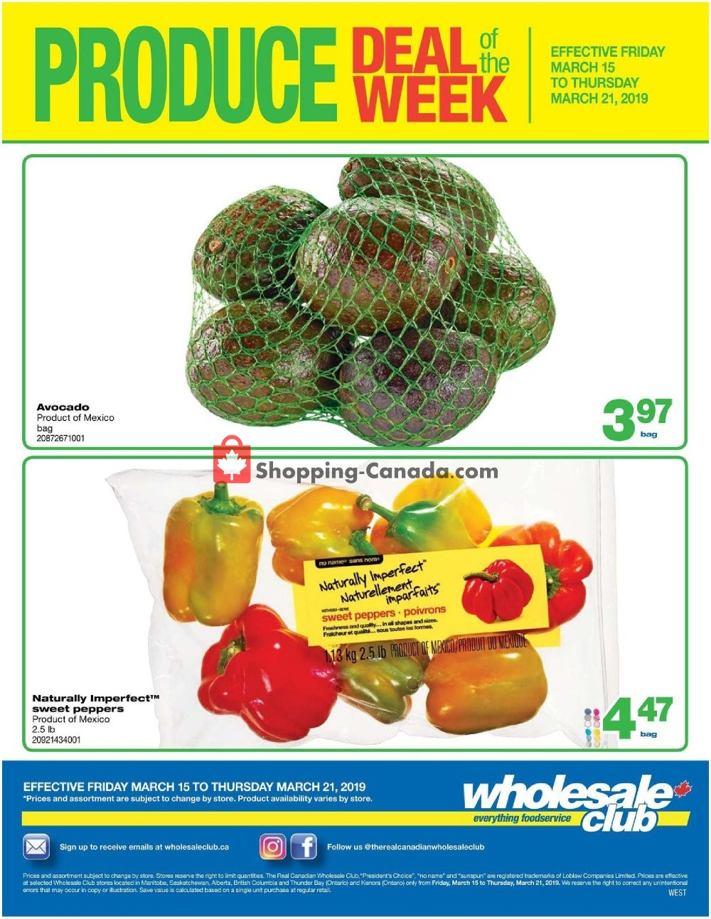 Flyer Wholesale Club Canada - from Friday March 15, 2019 to Thursday March 21, 2019