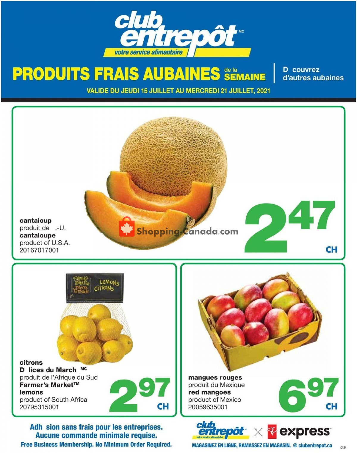 Flyer Wholesale Club Canada - from Thursday July 15, 2021 to Wednesday July 21, 2021