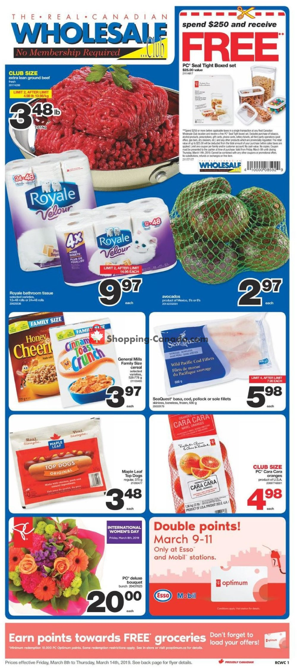 Flyer Wholesale Club Canada - from Friday March 8, 2019 to Thursday March 14, 2019