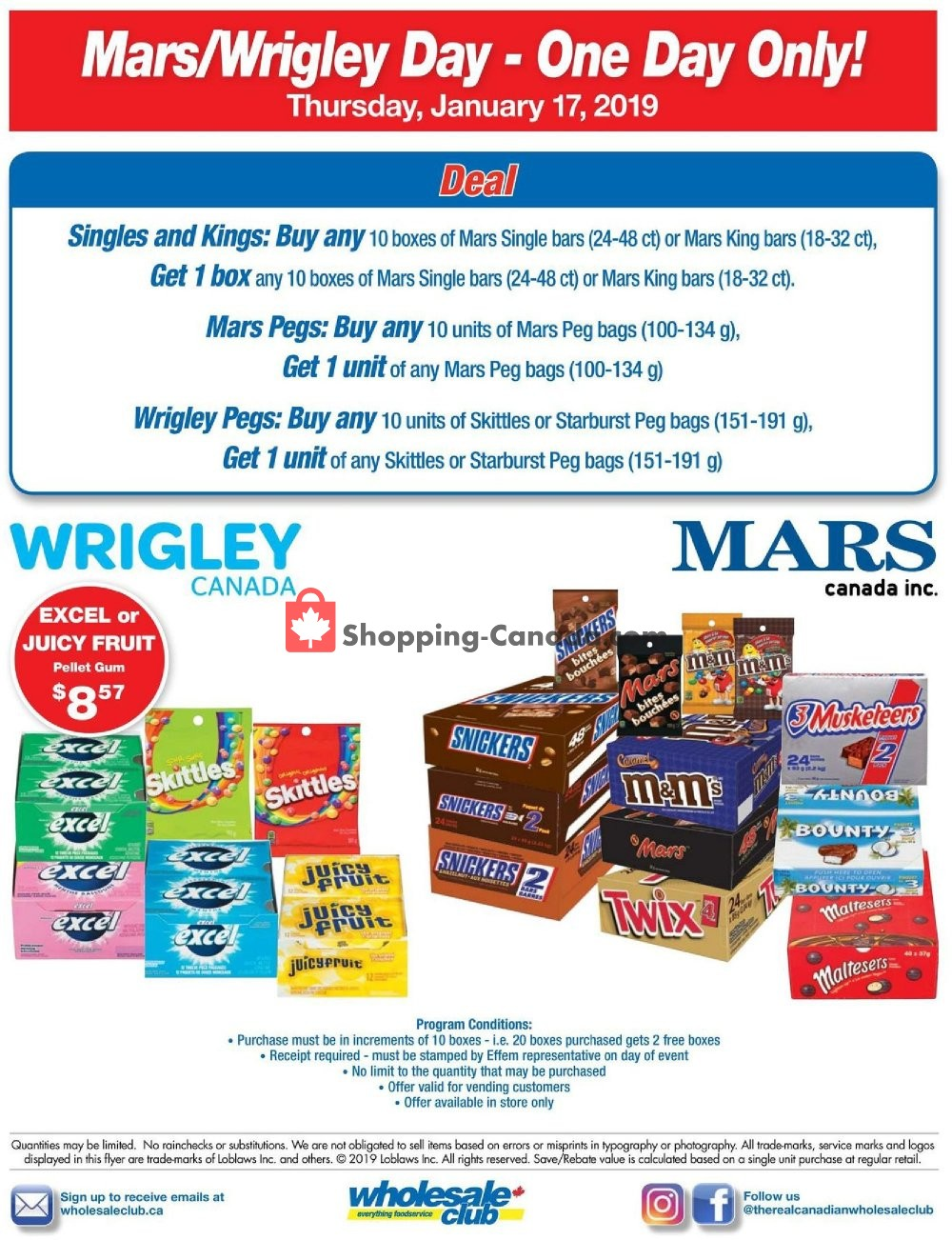 Flyer Wholesale Club Canada - from Thursday January 17, 2019 to Thursday January 17, 2019