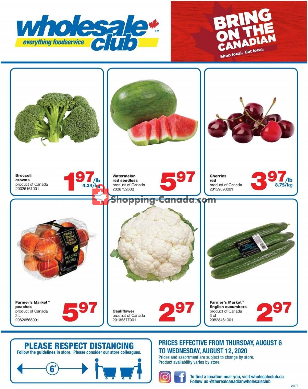 Flyer Wholesale Club Canada - from Thursday August 6, 2020 to Wednesday August 12, 2020