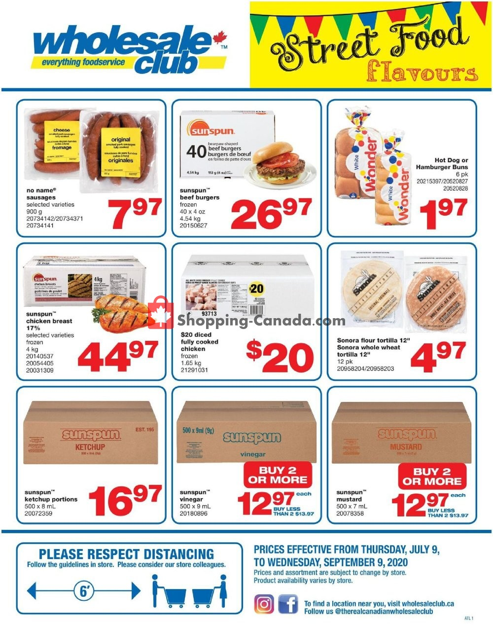 Flyer Wholesale Club Canada - from Thursday July 9, 2020 to Sunday August 9, 2020