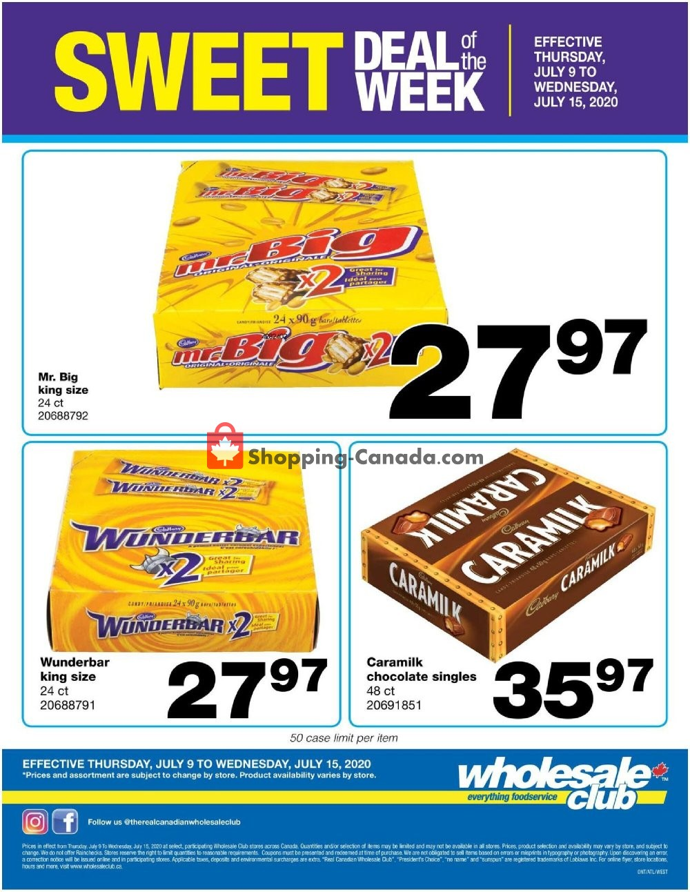 Flyer Wholesale Club Canada - from Thursday July 9, 2020 to Wednesday July 15, 2020