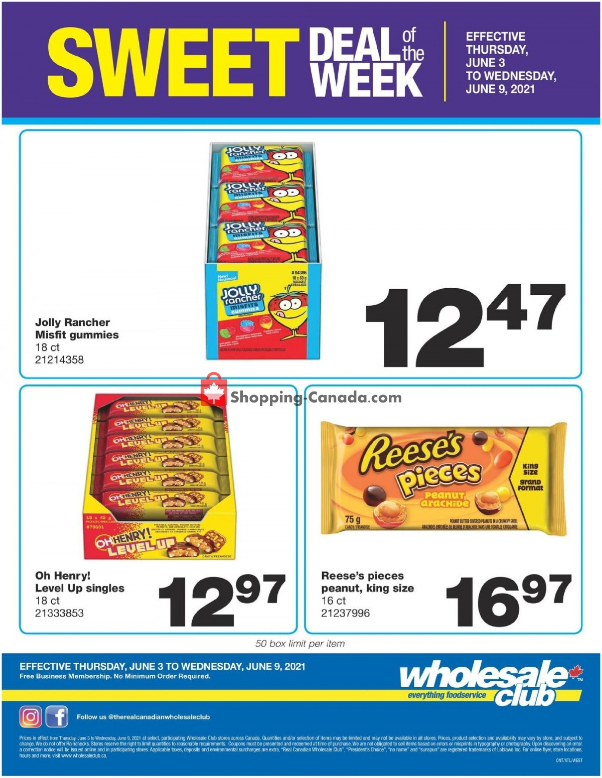 Flyer Wholesale Club Canada - from Thursday June 3, 2021 to Wednesday June 9, 2021
