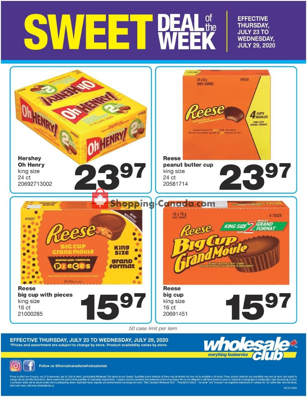 Flyer Wholesale Club Canada - from Thursday July 23, 2020 to Thursday July 30, 2020