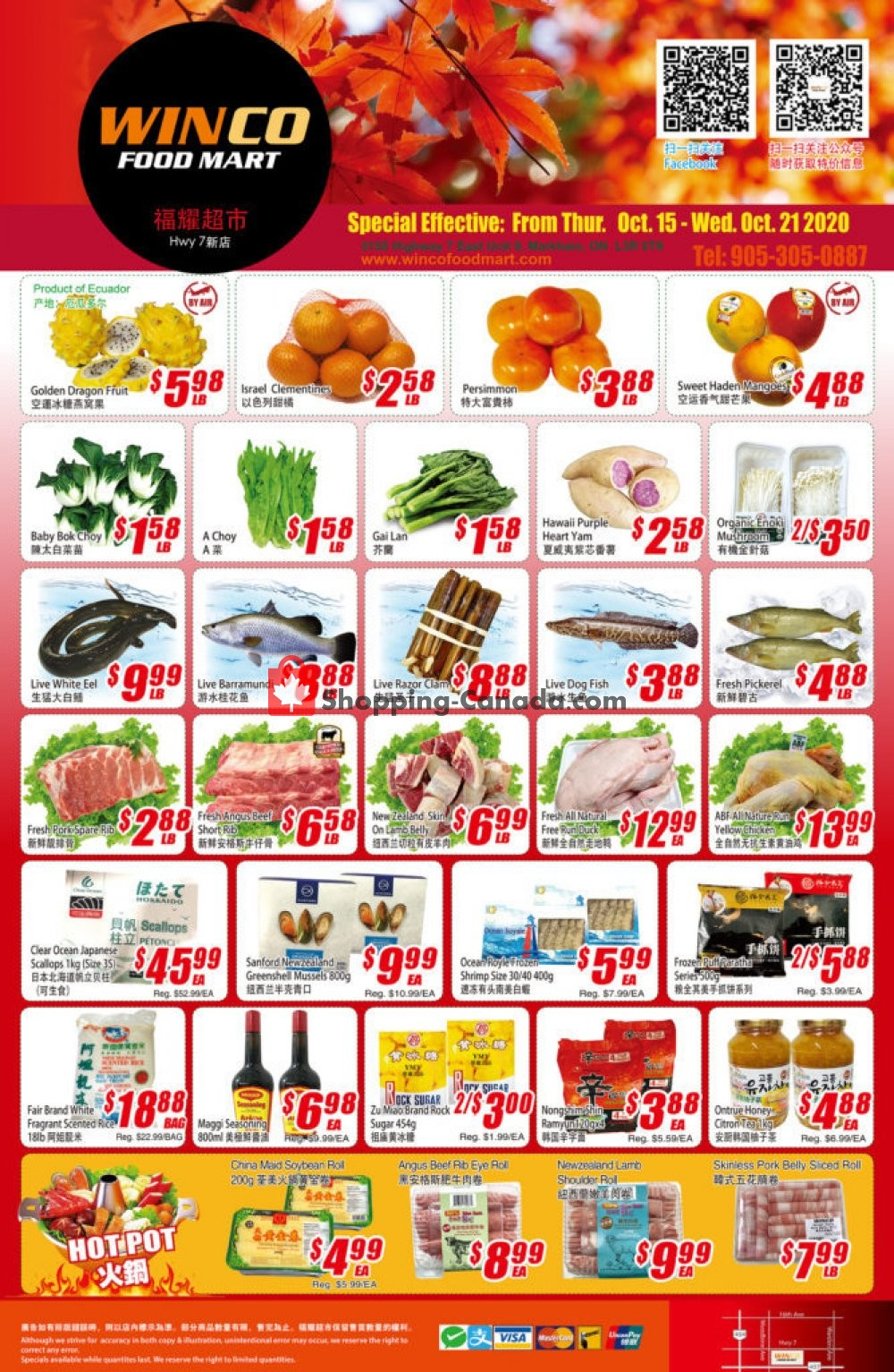 Flyer WinCo Food Mart Canada - from Thursday October 15, 2020 to Wednesday October 21, 2020