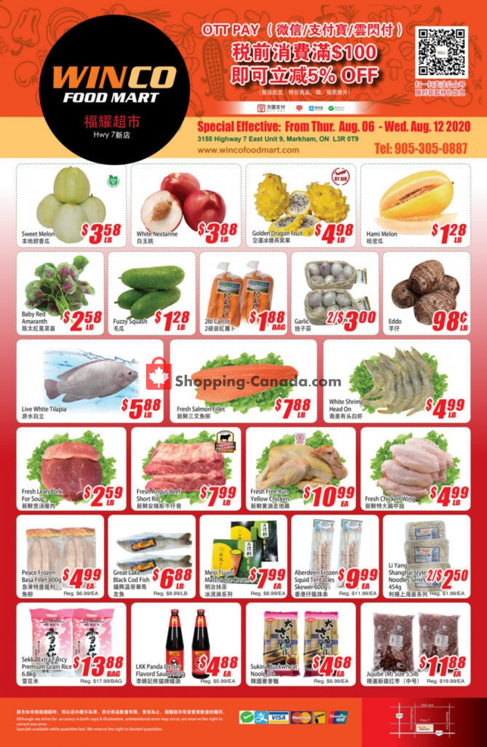 Flyer WinCo Food Mart Canada - from Thursday August 6, 2020 to Wednesday August 12, 2020