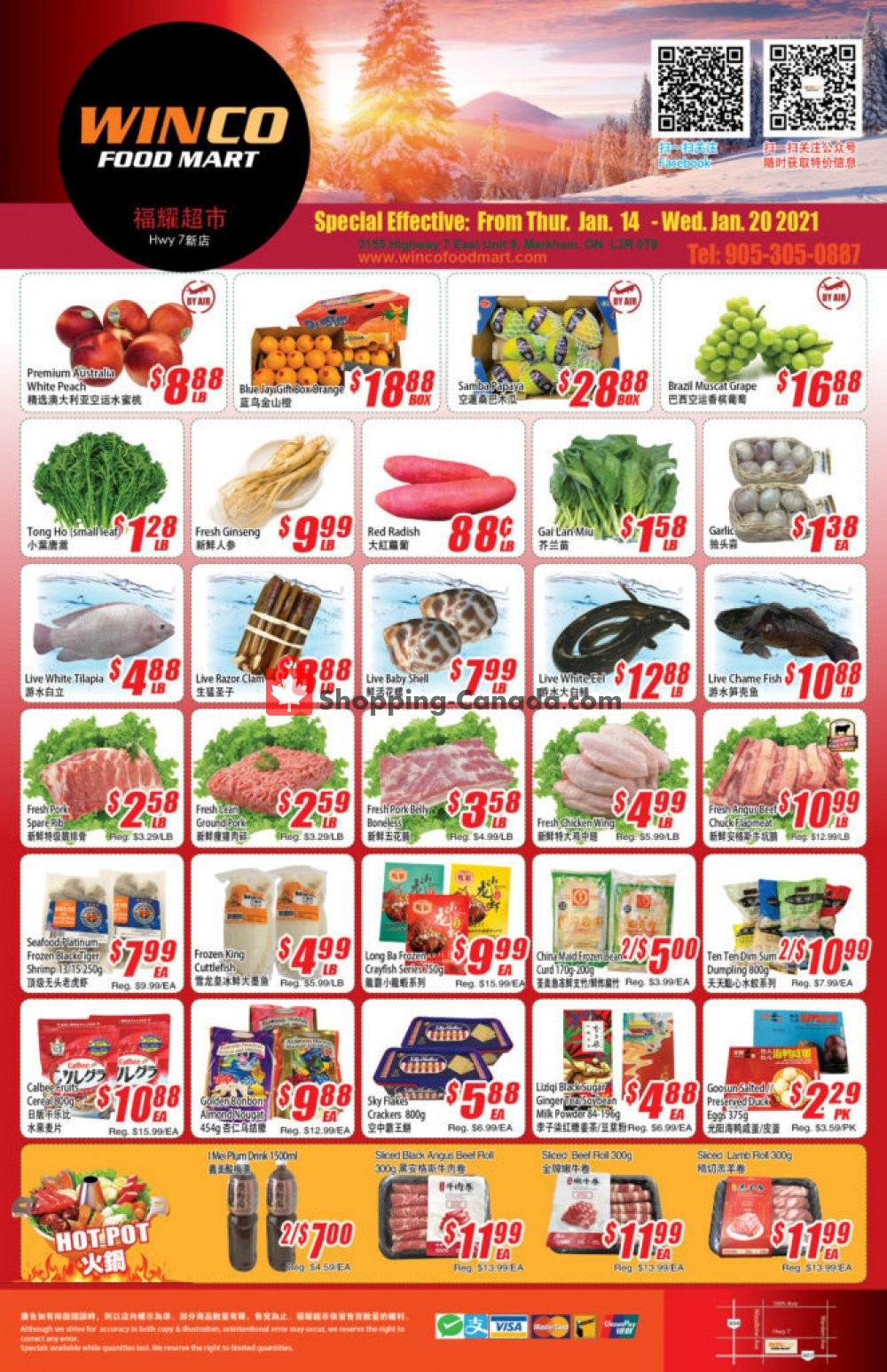 Flyer WinCo Food Mart Canada - from Thursday January 14, 2021 to Wednesday January 20, 2021