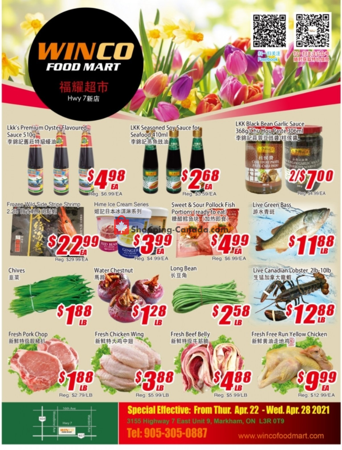 Flyer WinCo Food Mart Canada - from Thursday April 22, 2021 to Wednesday April 28, 2021