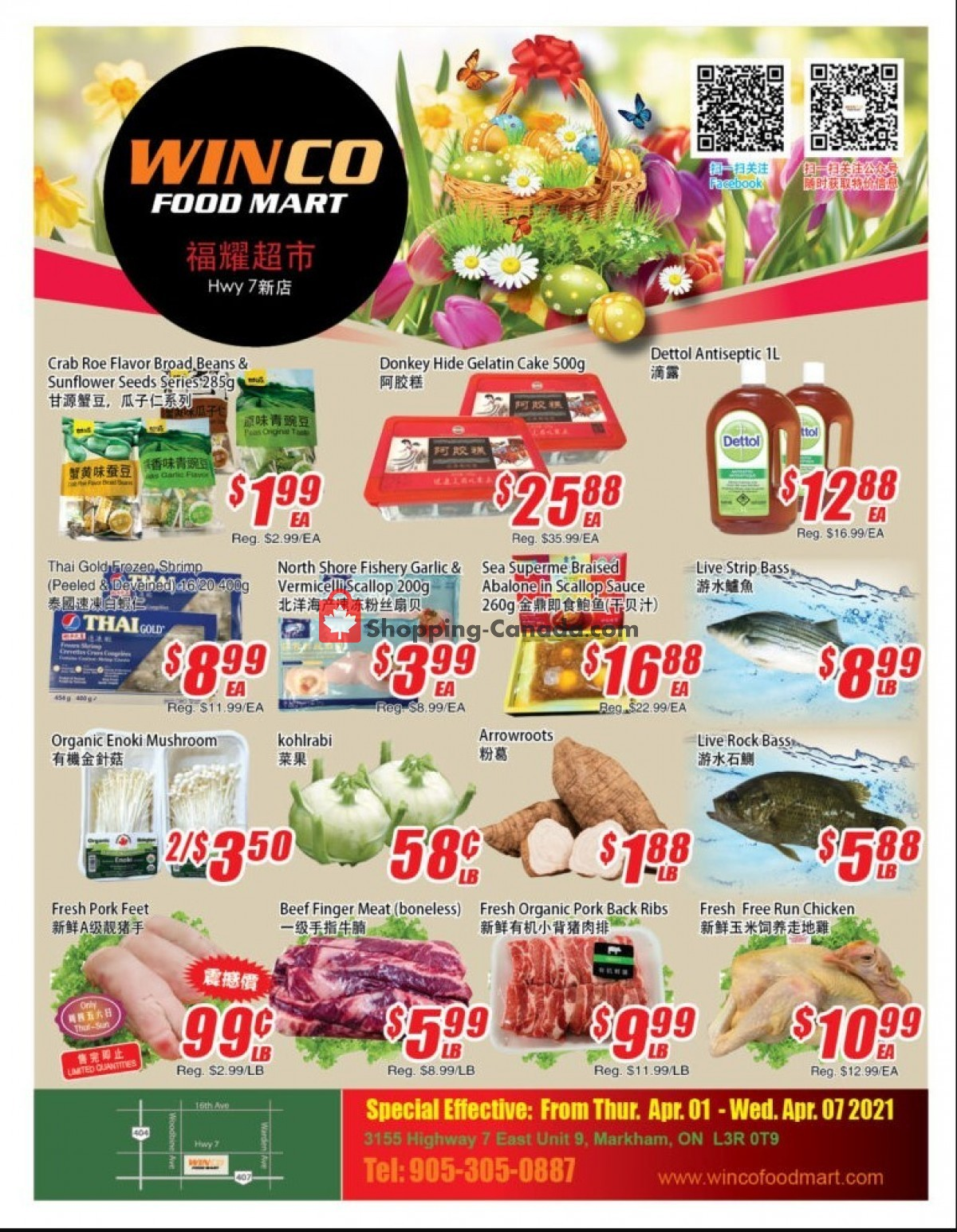Flyer WinCo Food Mart Canada - from Thursday April 1, 2021 to Wednesday April 7, 2021