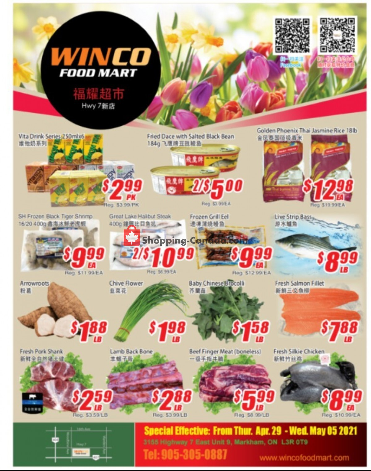 Flyer WinCo Food Mart Canada - from Thursday April 29, 2021 to Wednesday May 5, 2021