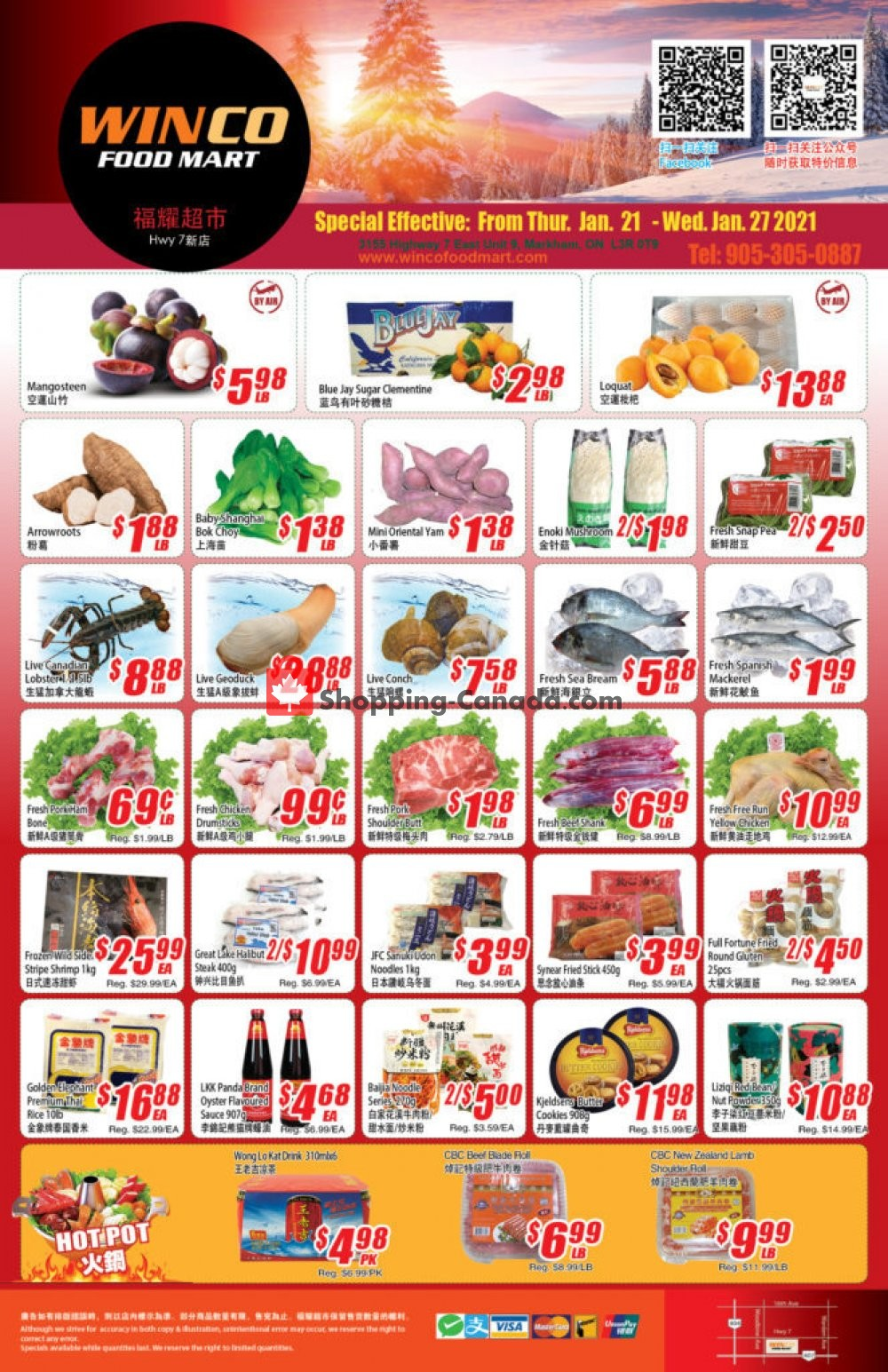 Flyer WinCo Food Mart Canada - from Thursday January 21, 2021 to Wednesday January 27, 2021