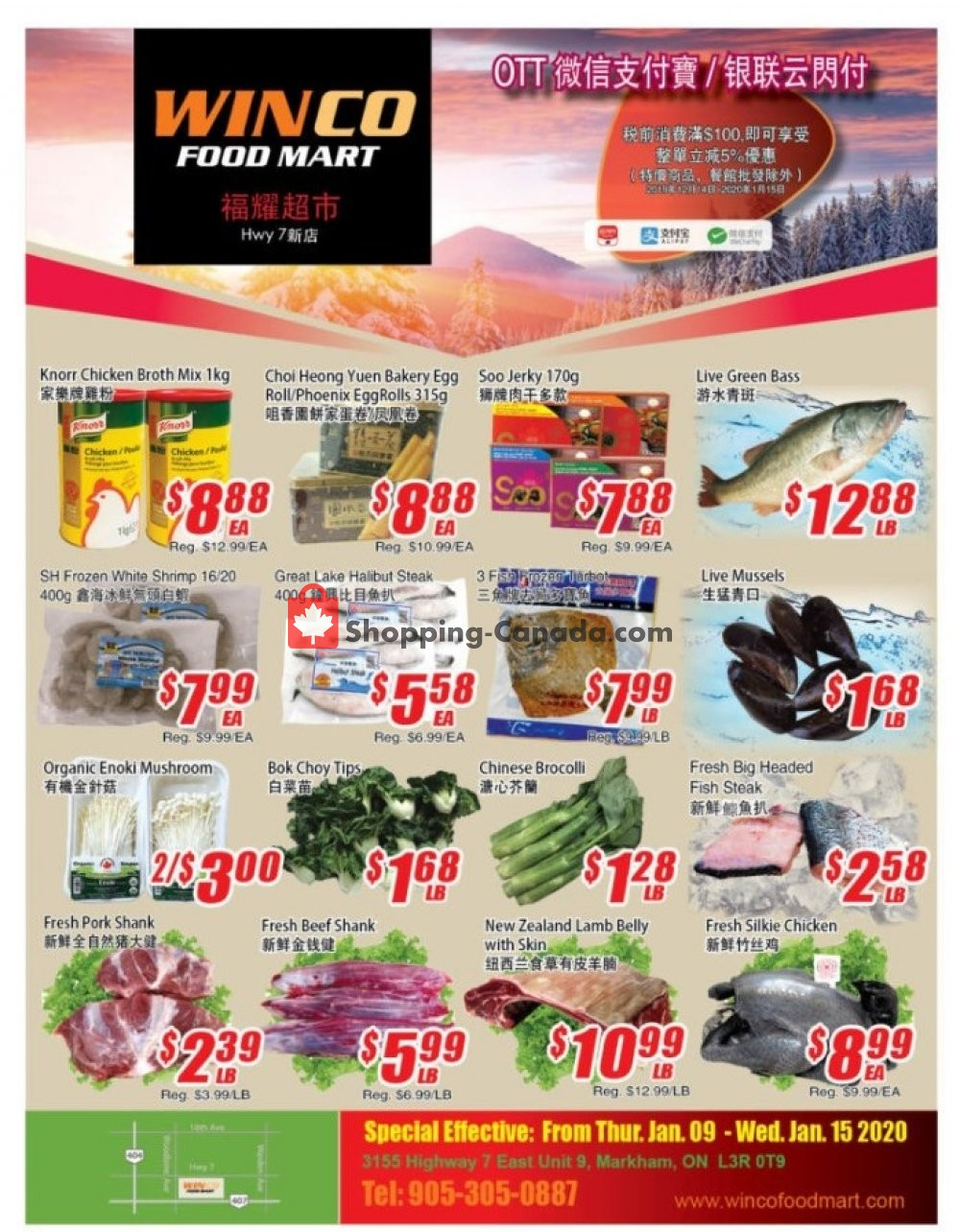Flyer WinCo Food Mart Canada - from Thursday January 9, 2020 to Wednesday January 15, 2020