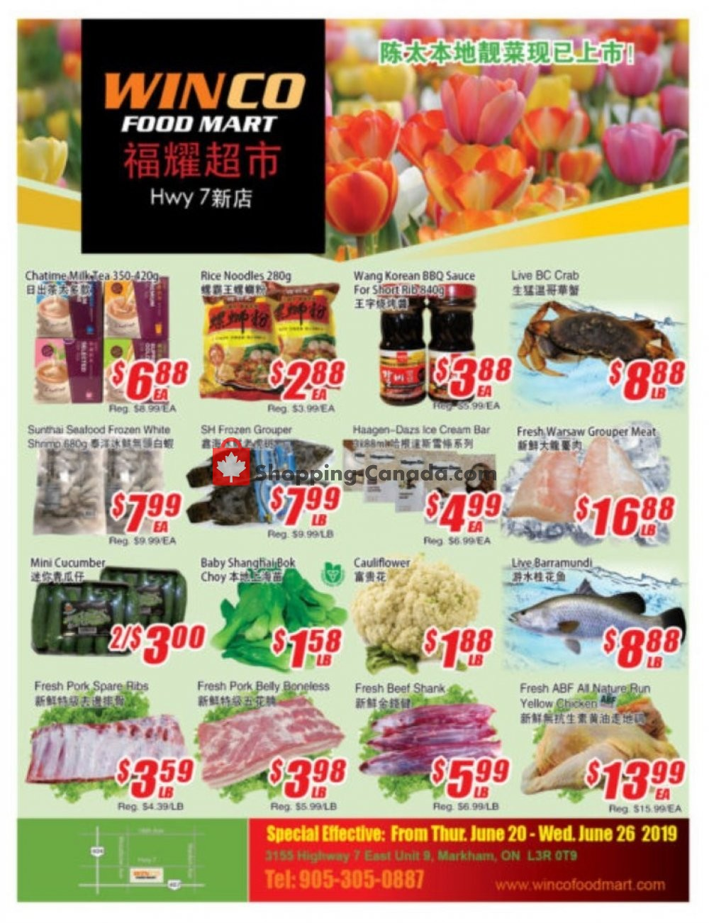 Flyer WinCo Food Mart Canada - from Thursday June 20, 2019 to Wednesday June 26, 2019