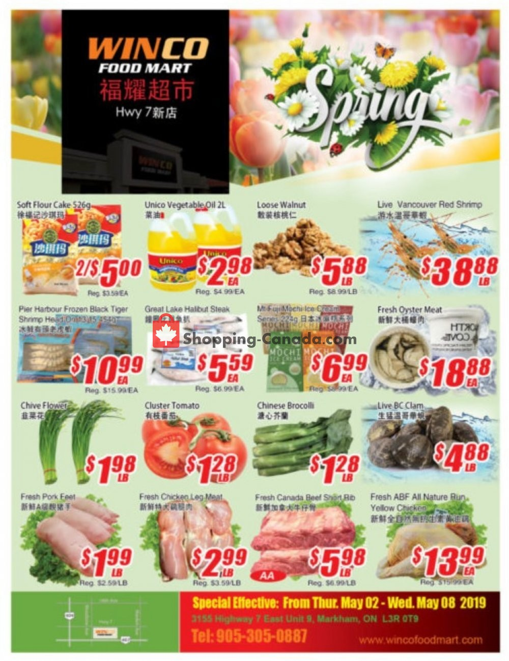 Flyer WinCo Food Mart Canada - from Thursday May 2, 2019 to Wednesday May 8, 2019