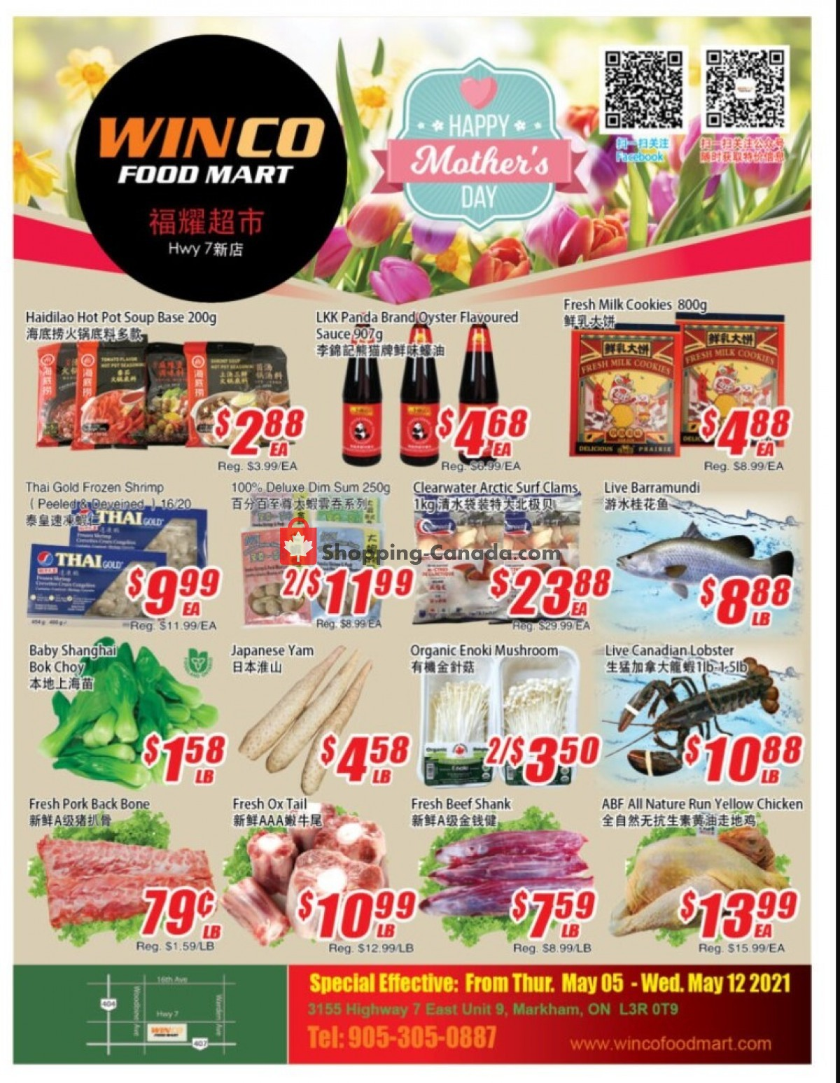 Flyer WinCo Food Mart Canada - from Thursday May 6, 2021 to Wednesday May 12, 2021