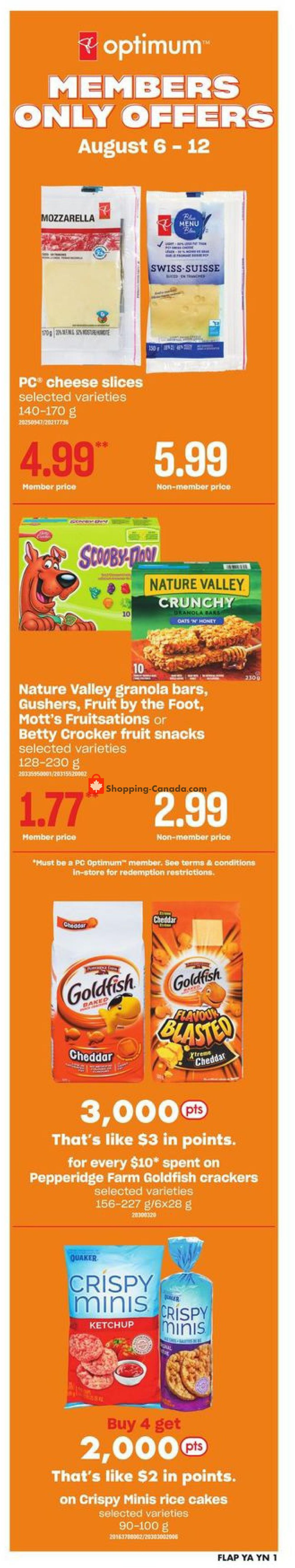 Flyer Your Independent Grocer Canada - from Thursday August 6, 2020 to Wednesday August 12, 2020