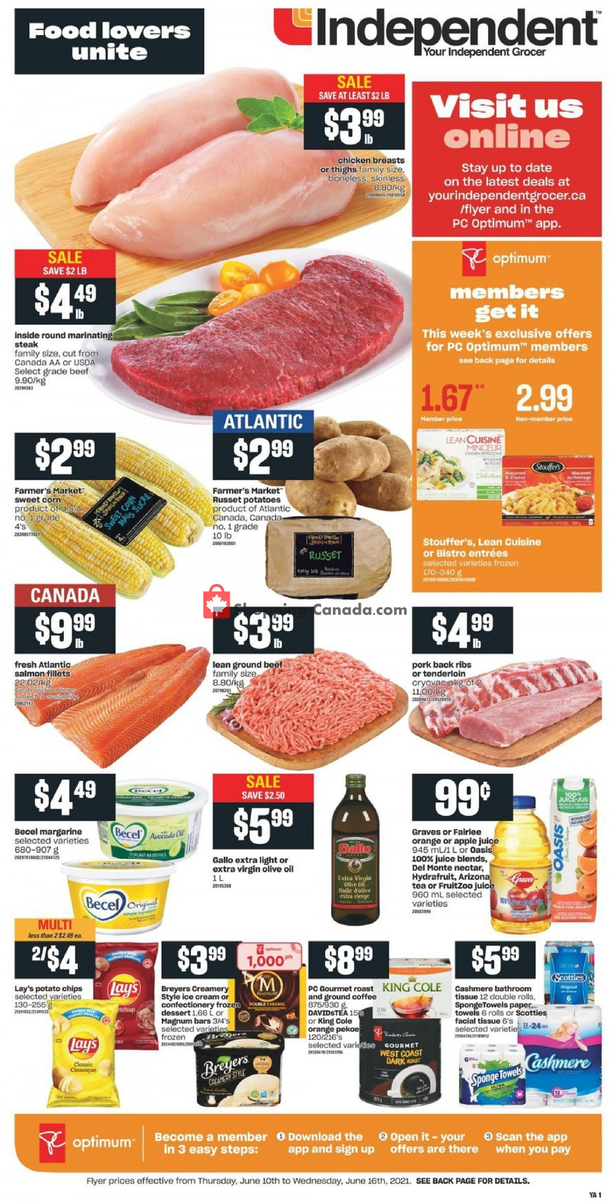 Flyer Your Independent Grocer Canada - from Thursday June 10, 2021 to Wednesday June 16, 2021
