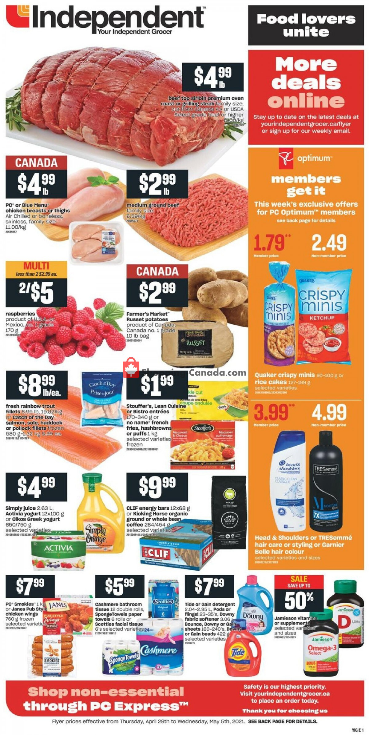 Flyer Your Independent Grocer Canada - from Thursday April 29, 2021 to Wednesday May 5, 2021