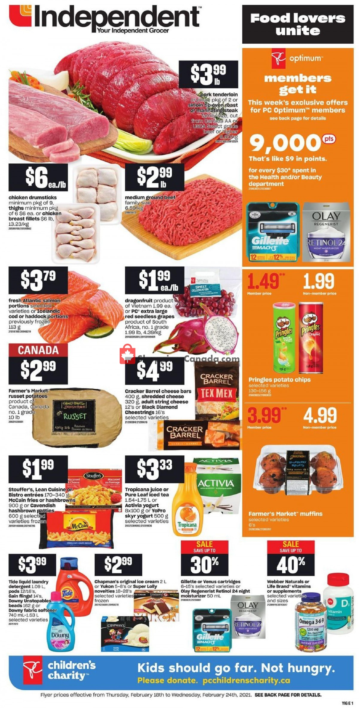 Flyer Your Independent Grocer Canada - from Thursday February 18, 2021 to Wednesday February 24, 2021