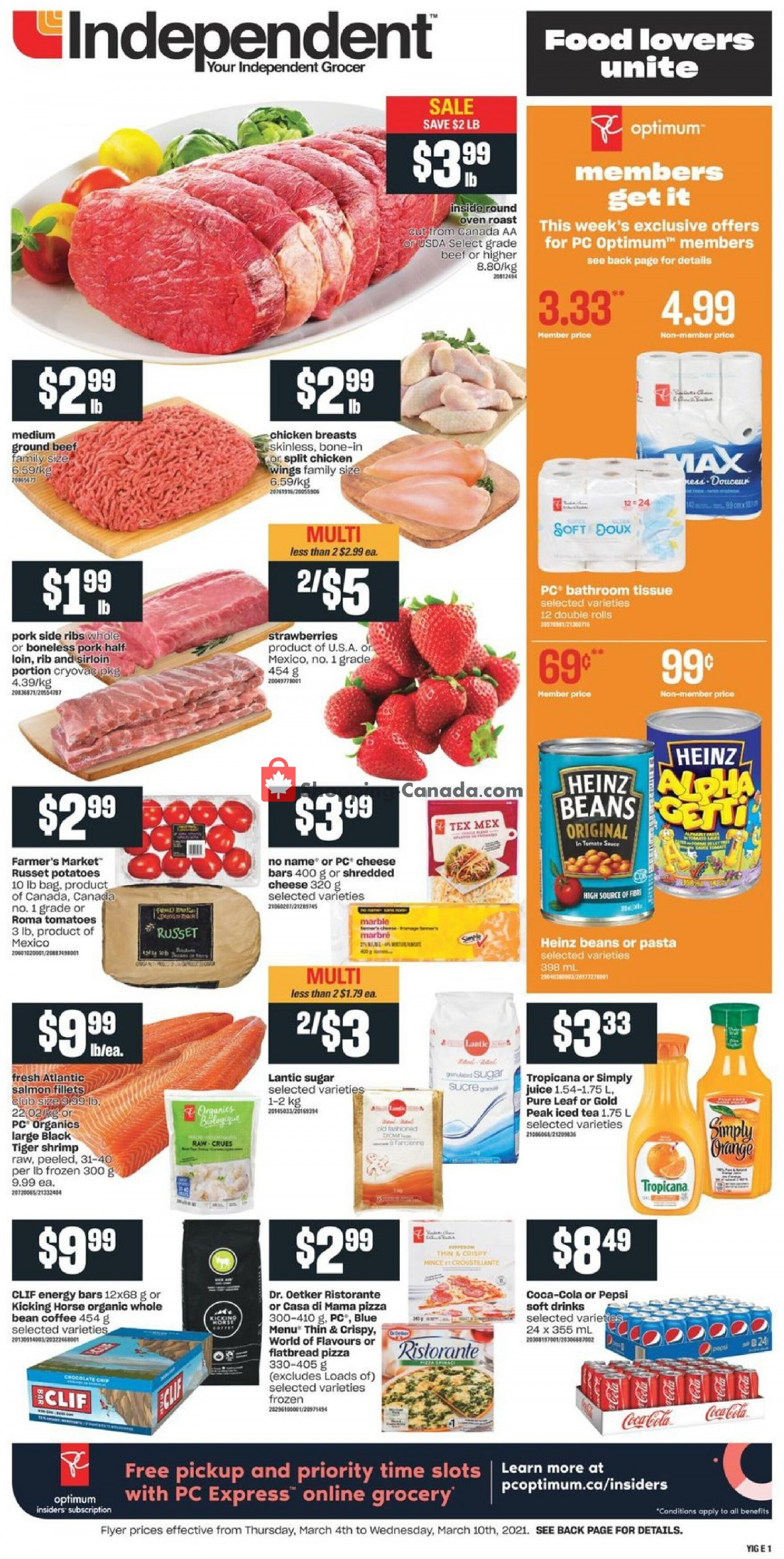 Flyer Your Independent Grocer Canada - from Thursday March 4, 2021 to Wednesday March 10, 2021