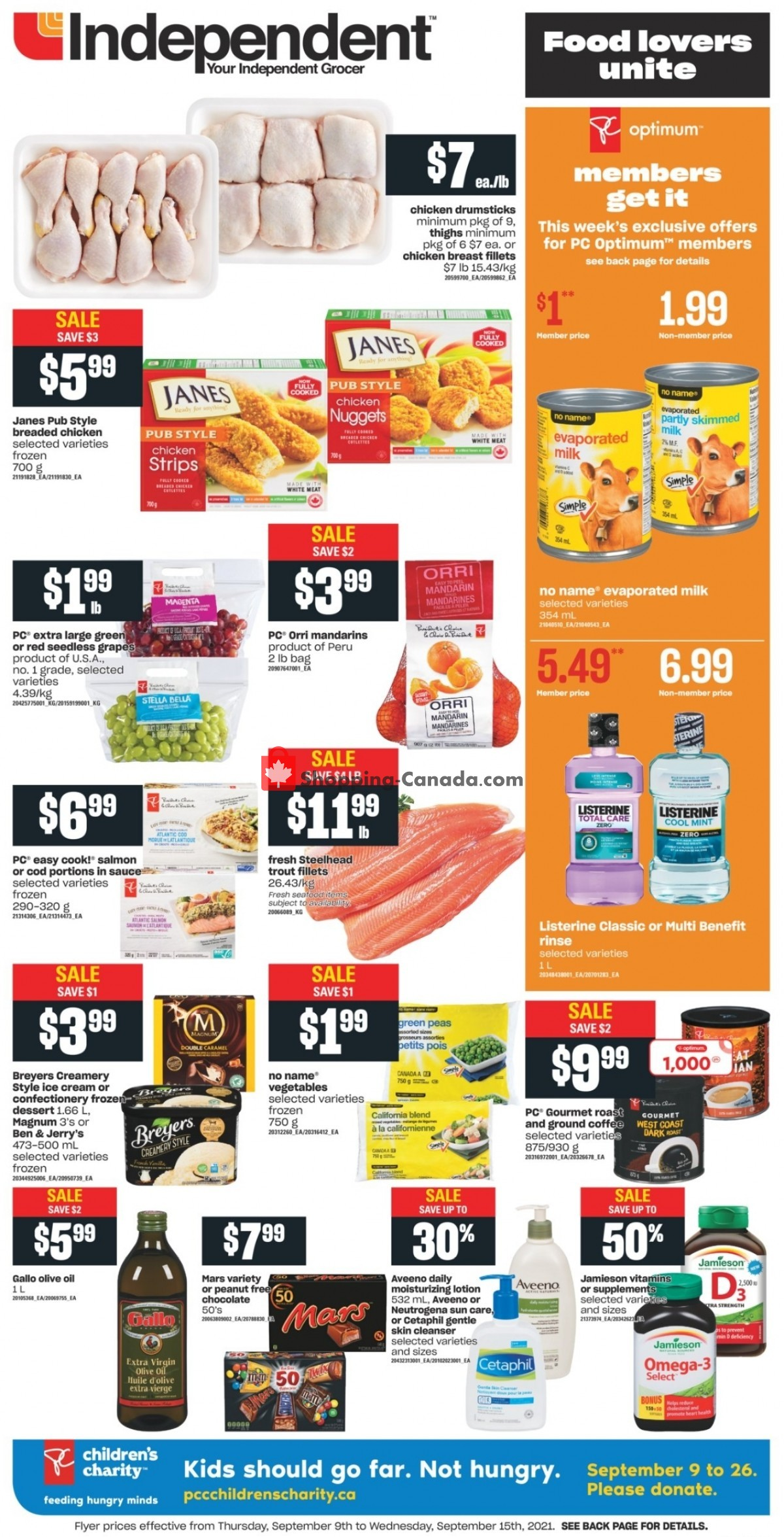 Flyer Your Independent Grocer Canada - from Thursday September 9, 2021 to Wednesday September 15, 2021