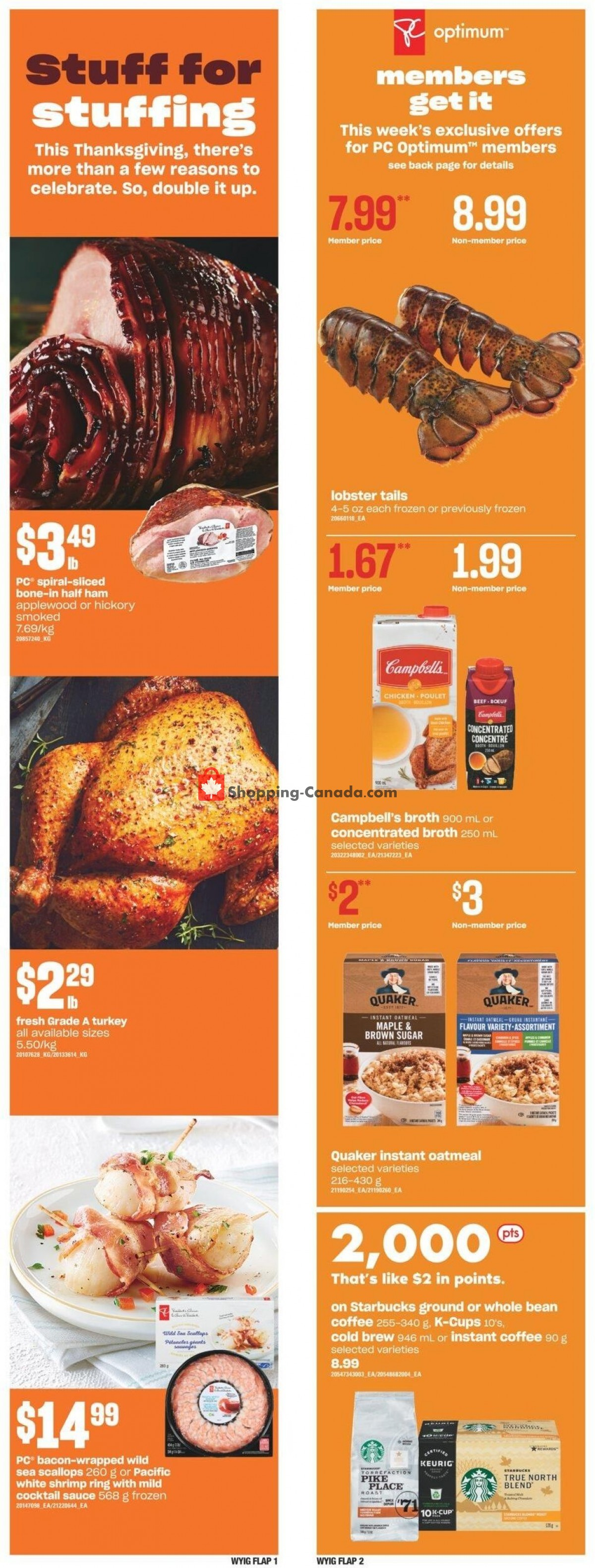 Flyer Your Independent Grocer Canada - from Thursday October 7, 2021 to Wednesday October 13, 2021