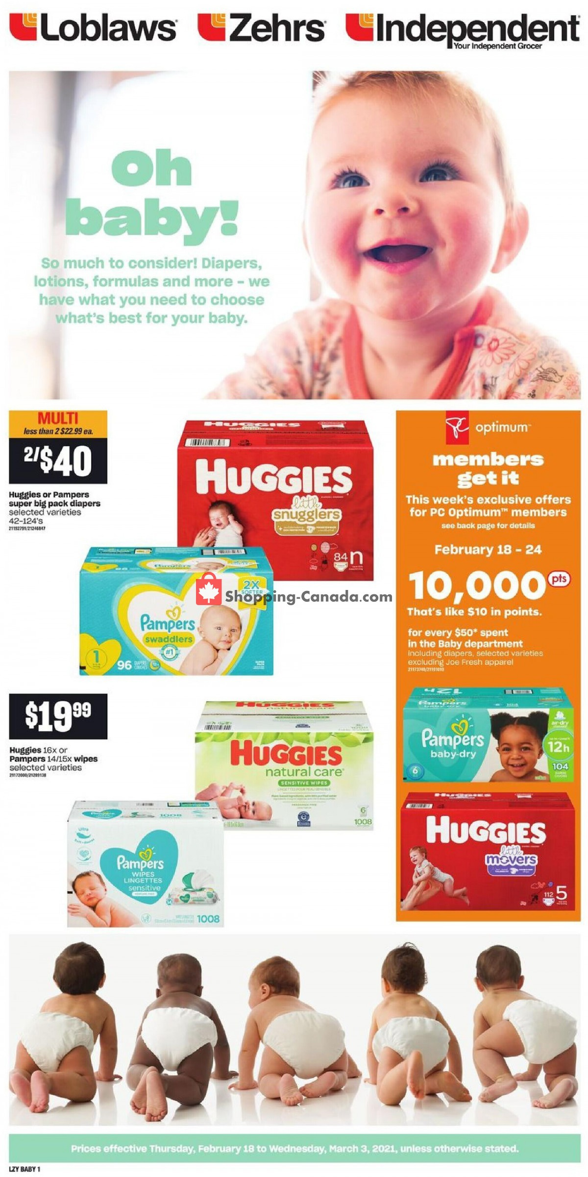 Flyer Your Independent Grocer Canada - from Thursday February 18, 2021 to Wednesday March 3, 2021