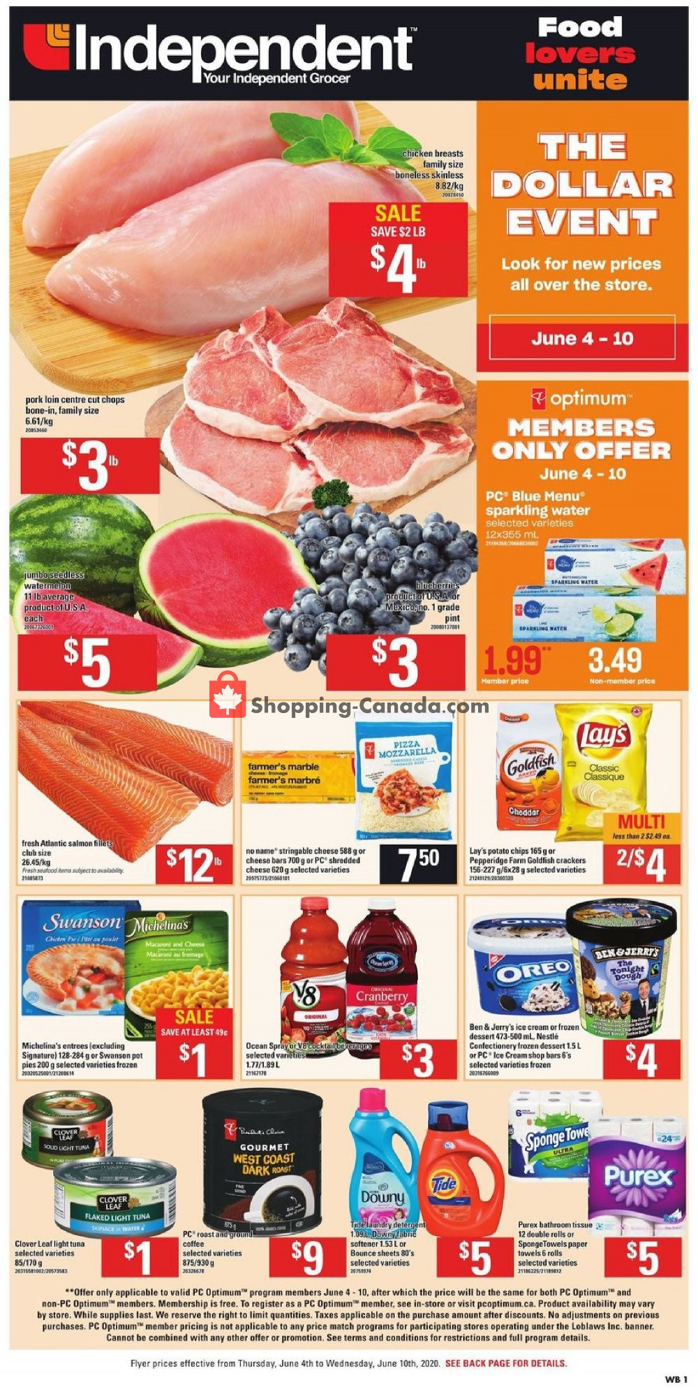 Flyer Your Independent Grocer Canada - from Thursday June 4, 2020 to Wednesday June 10, 2020