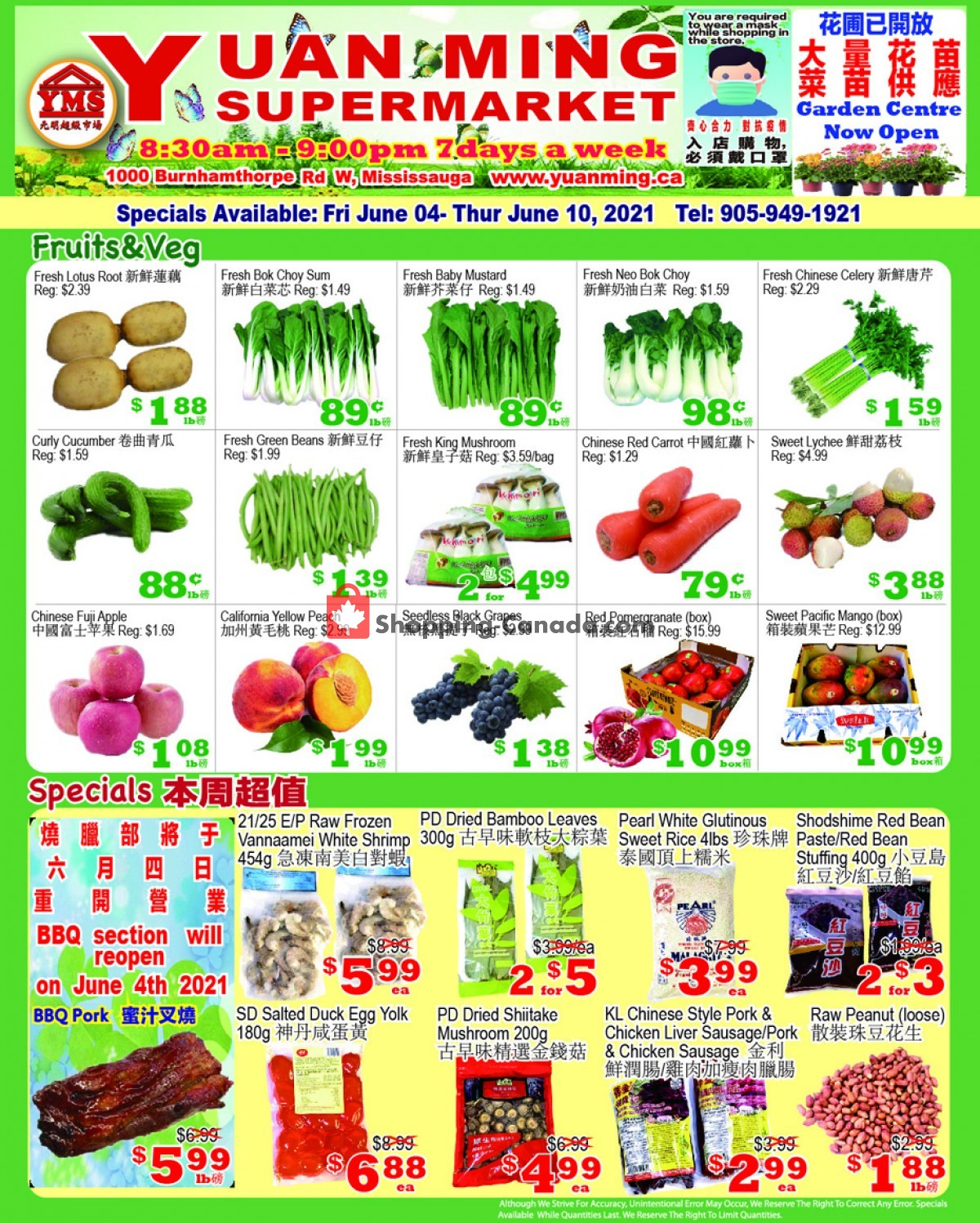 Flyer Yuan Ming Supermarket Canada - from Friday June 4, 2021 to Thursday June 10, 2021