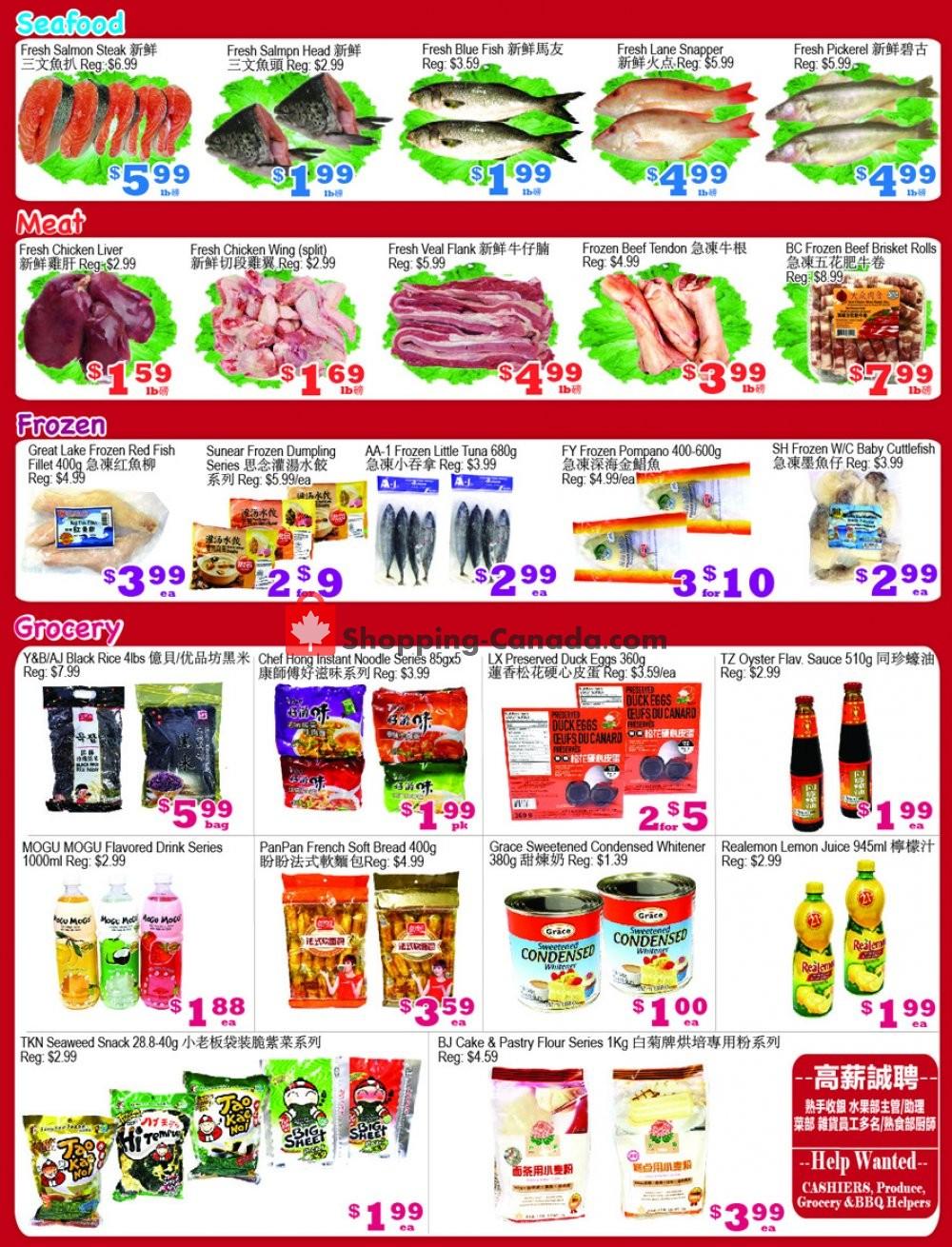 Flyer Yuan Ming Supermarket Canada - from Friday October 16, 2020 to Thursday October 22, 2020