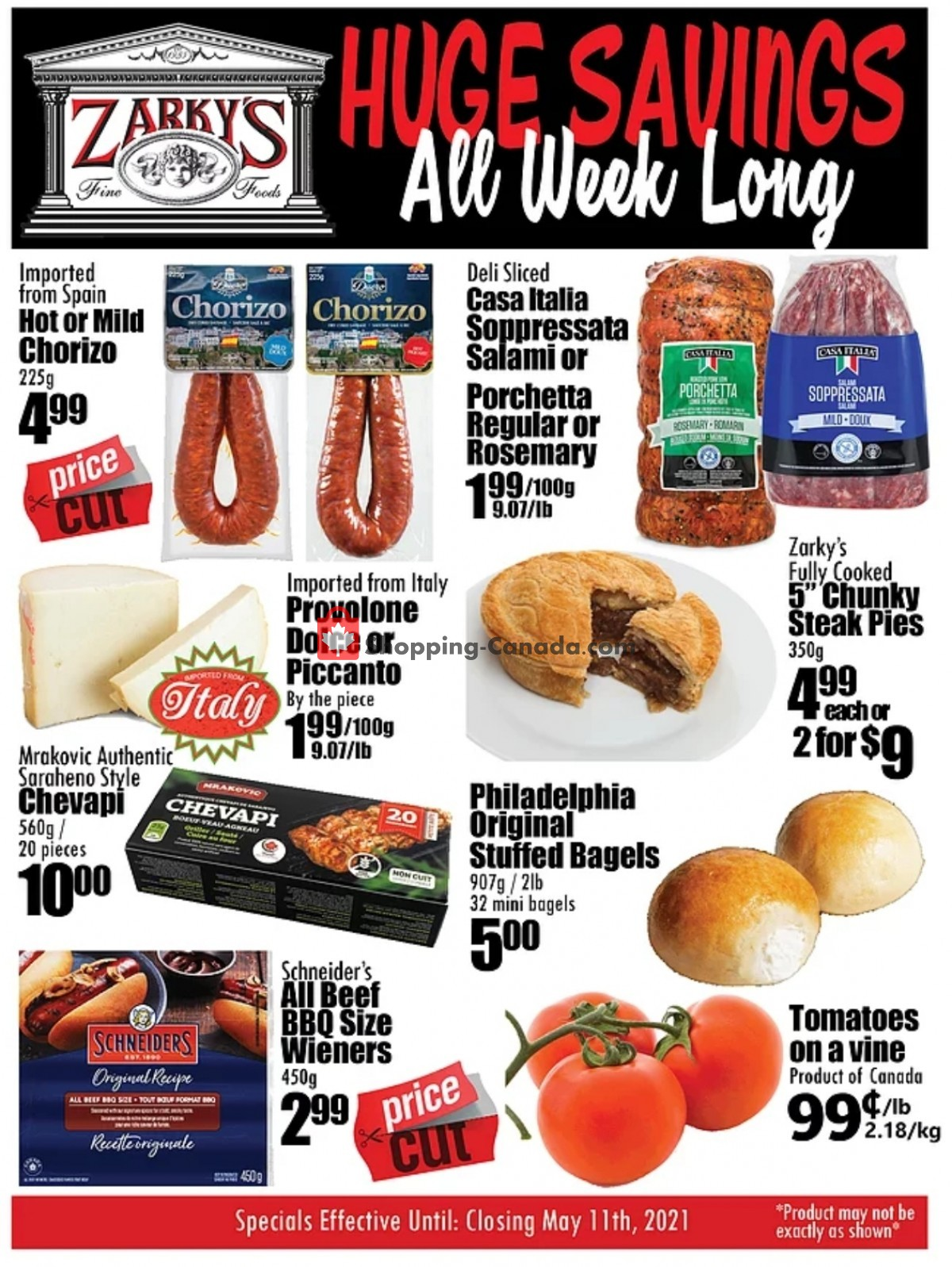 Flyer Zarky's Canada - from Wednesday May 5, 2021 to Tuesday May 11, 2021