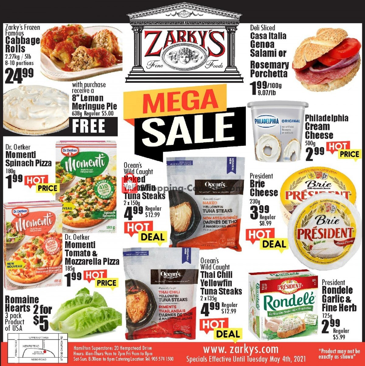 Flyer Zarky's Canada - from Wednesday April 28, 2021 to Tuesday May 4, 2021