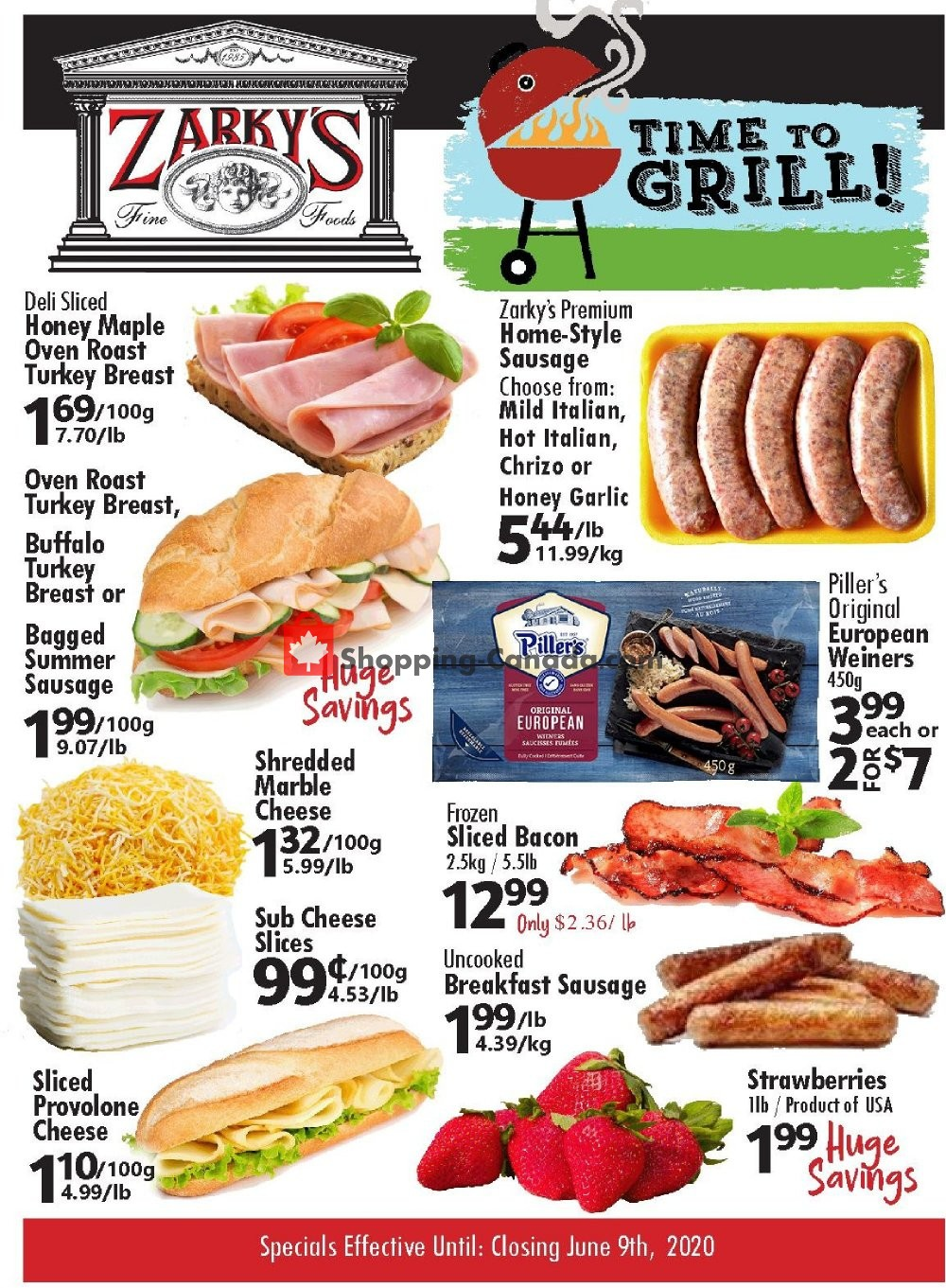 Flyer Zarky's Canada - from Wednesday June 3, 2020 to Tuesday June 9, 2020