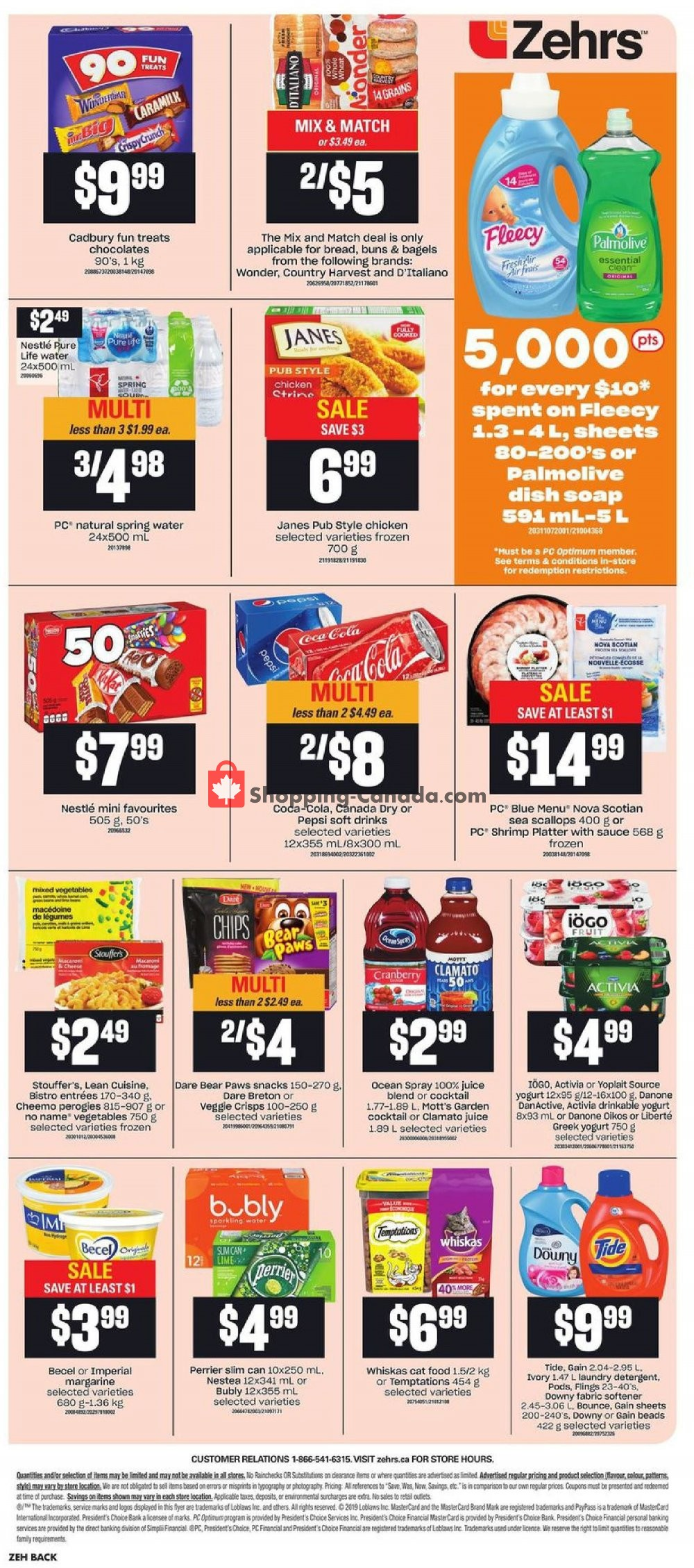 Flyer Zehrs Canada - from Thursday October 10, 2019 to Wednesday October 16, 2019