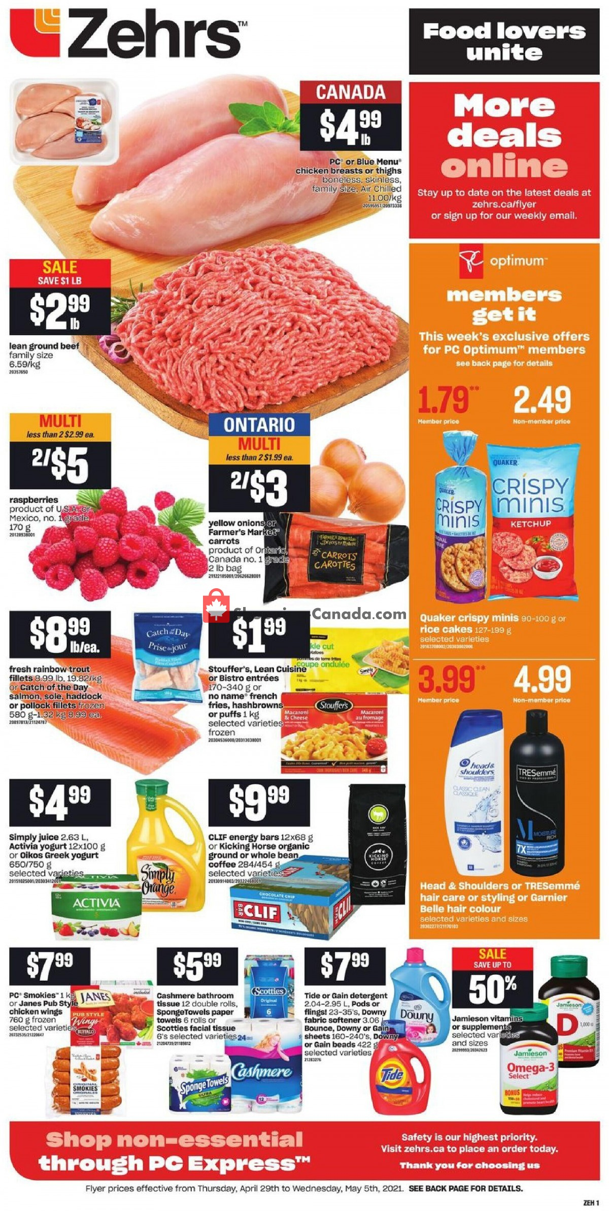 Flyer Zehrs Canada - from Thursday April 29, 2021 to Wednesday May 5, 2021