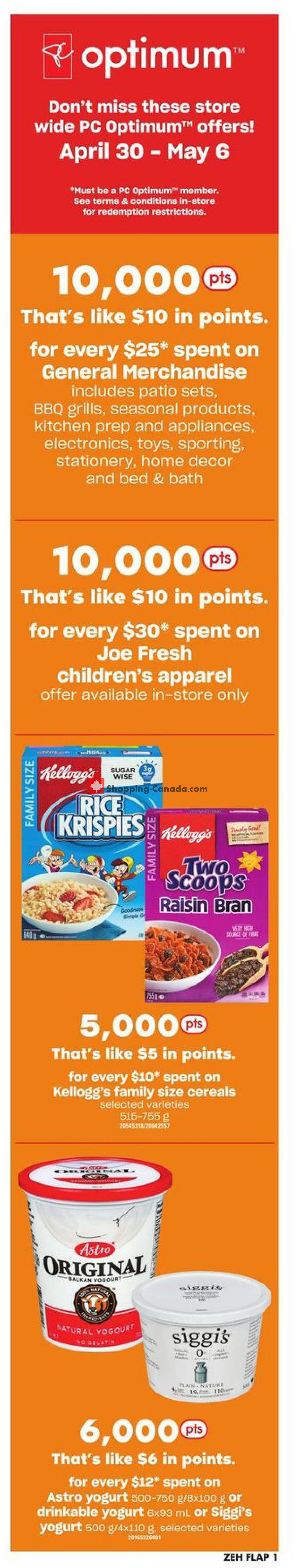 Flyer Zehrs Canada - from Thursday April 30, 2020 to Wednesday May 6, 2020