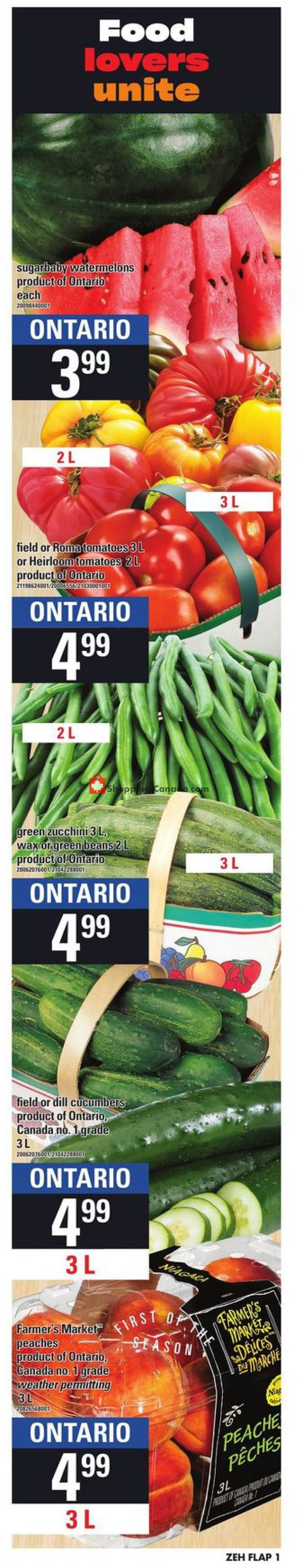 Flyer Zehrs Canada - from Thursday August 1, 2019 to Wednesday August 7, 2019