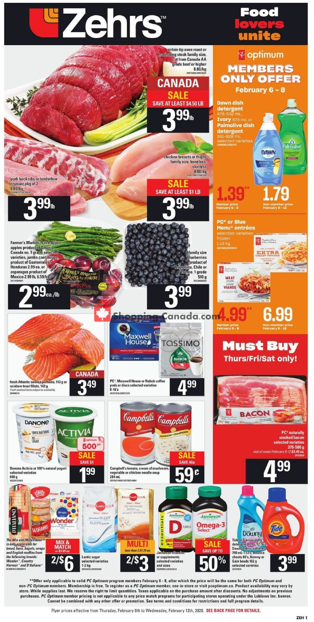 Flyer Zehrs Canada - from Thursday February 6, 2020 to Wednesday February 12, 2020