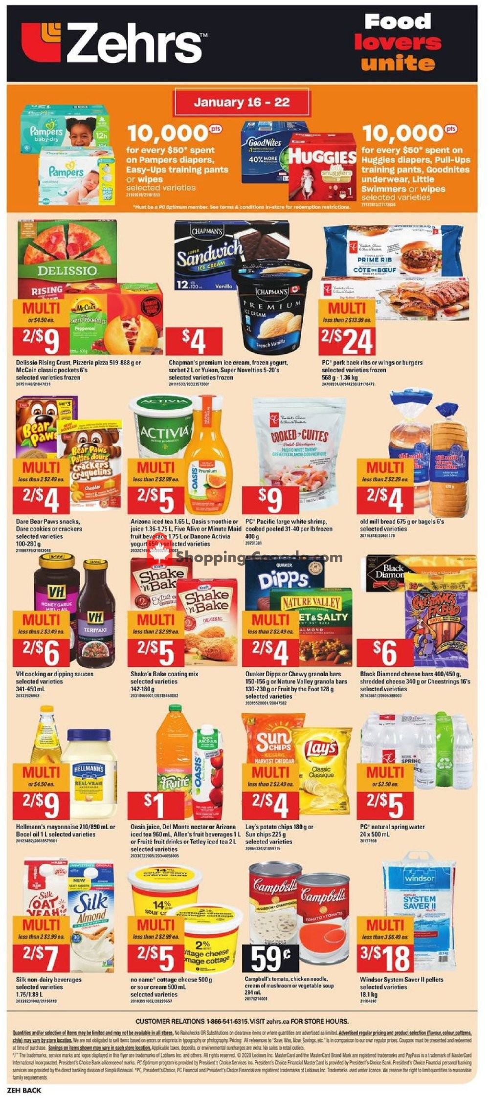 Flyer Zehrs Canada - from Thursday January 16, 2020 to Wednesday January 22, 2020