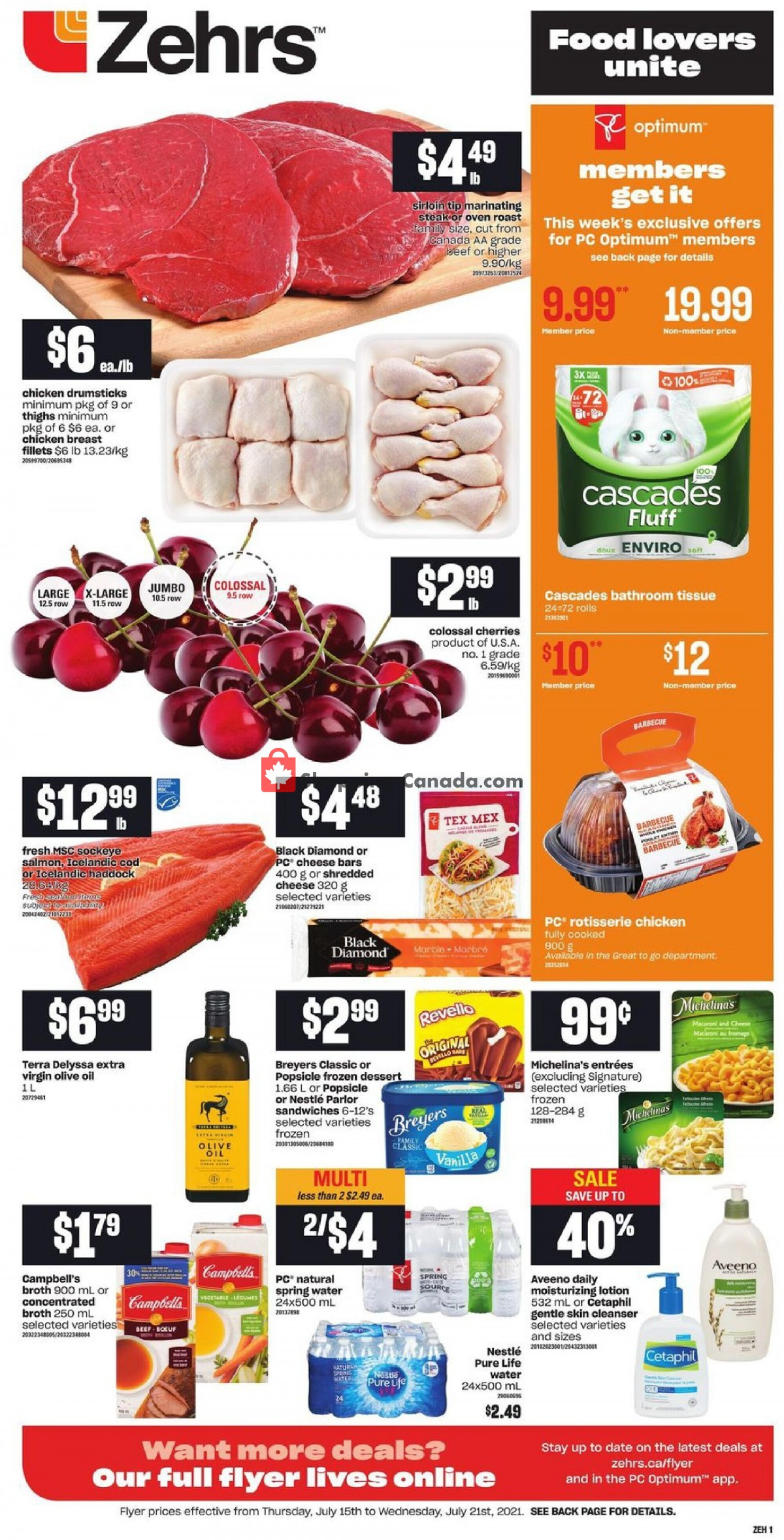 Flyer Zehrs Canada - from Thursday July 15, 2021 to Wednesday July 21, 2021