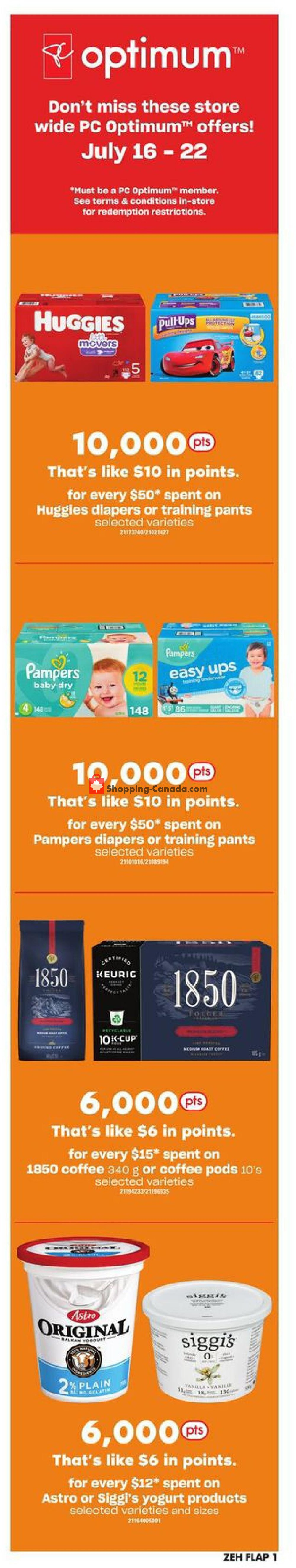 Flyer Zehrs Canada - from Thursday July 16, 2020 to Wednesday July 22, 2020