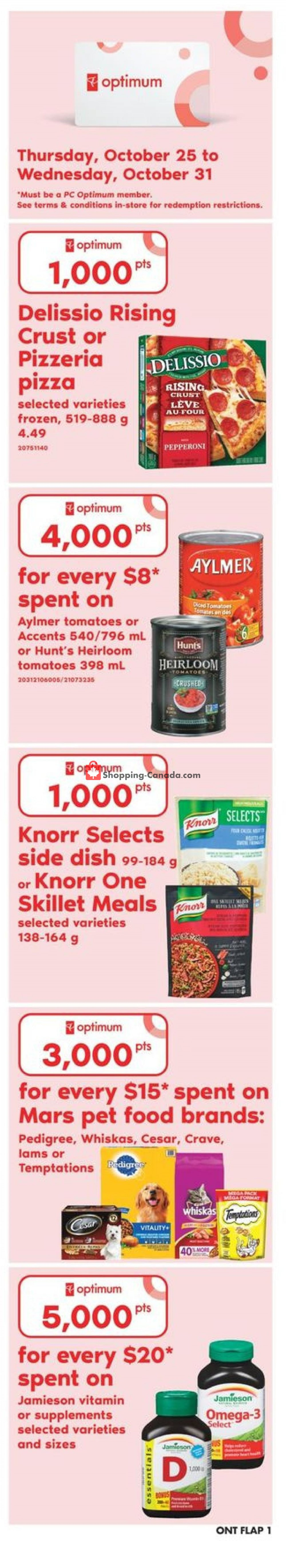 Flyer Zehrs Canada - from Thursday October 25, 2018 to Wednesday October 31, 2018